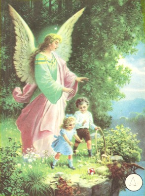 Guardian Angel protecting children