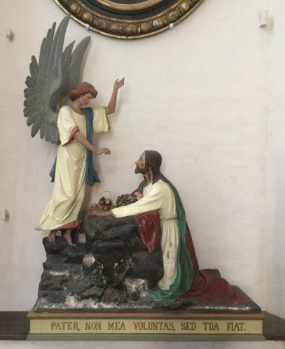 Christ prays in the Olive garden