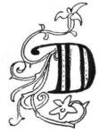 Fancy letter D