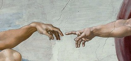 The Creation of Adam - detail 1