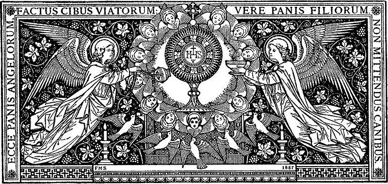 Missale Romanum - Angels Adoring Eucharist