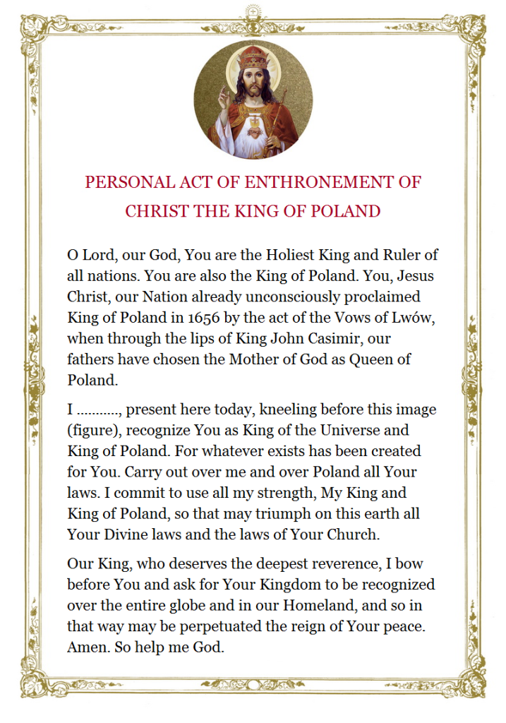 Act of Enthronement of Christ the King of Poland