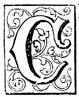 Fancy letter C