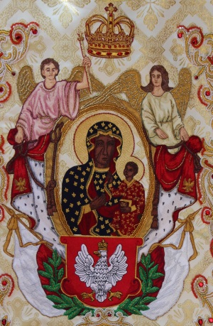 Tridentine mass chasuble detail - Father Natanek